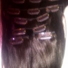 "20"" clip in Indian Remy extensions"
