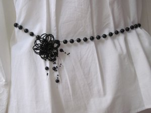 NEW Beaded Waist chain with adjustable beaded flower
