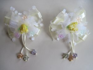 NEW Girls Ivory color hair Clip (One Pair)