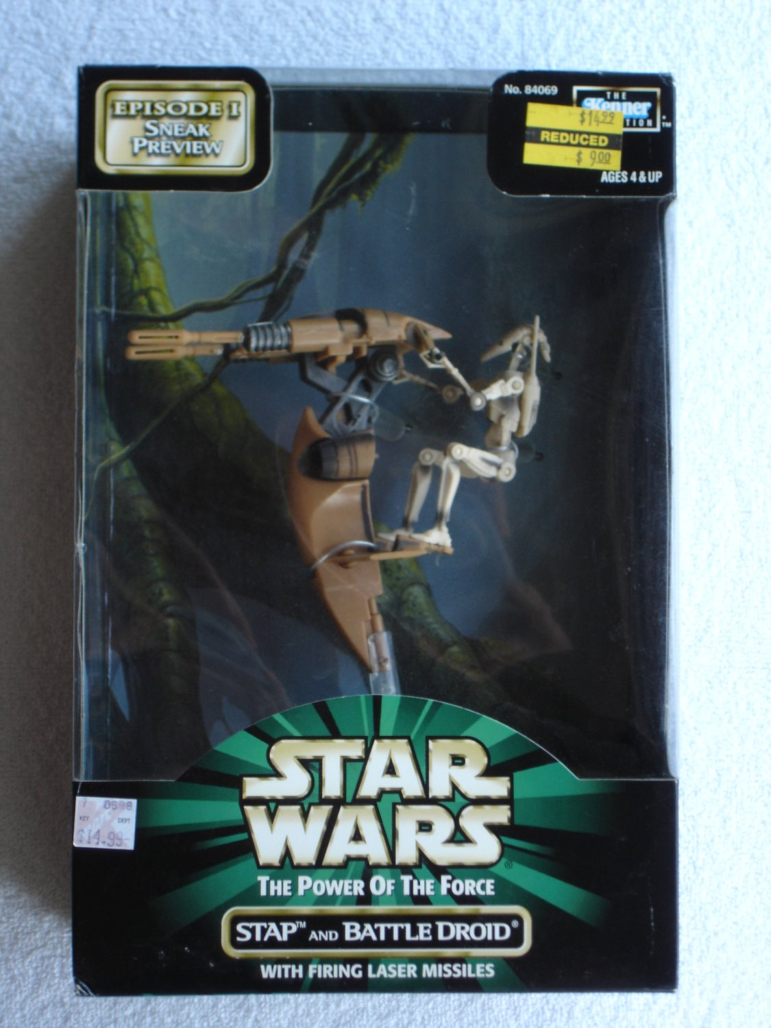 """Star Wars POTF """"Episode I Sneak Preview"""" Stap and Battle Droid"""
