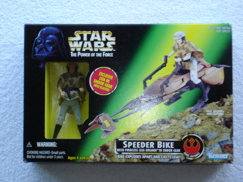 Star Wars POTF Speeder Bike with Princess Leia Organa
