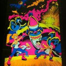 Rare Futurama Mind Bending Black Light Poster Santa Xmas