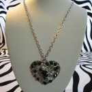 Black Stone Heart Necklace