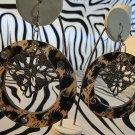 Cheetah Circle Earrings