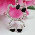 Hello Kitty Crystal Pendant Necklace Full Body