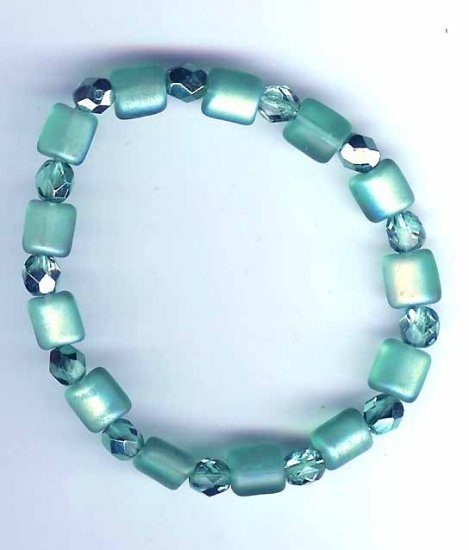 Turquoise slip on bracelet by Lucine