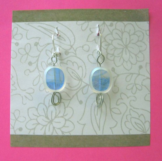 Fashion earrings: Icy cool fashion drop earrings by Lucine - wireworks - free sh/h