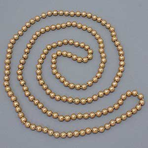 Long handknotted lite brown pearl necklace