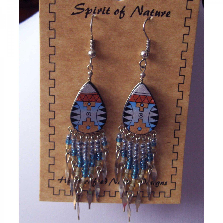 Fashion Aztec style drop earrings {1519}