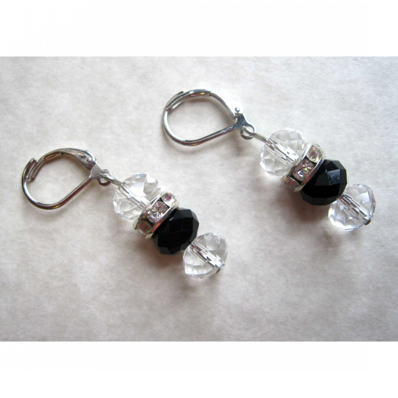 black crystal dropfashion earrings