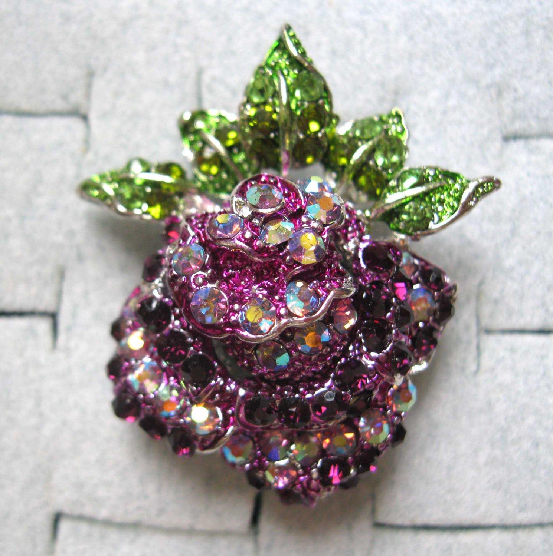 Purple slip on fashion ring