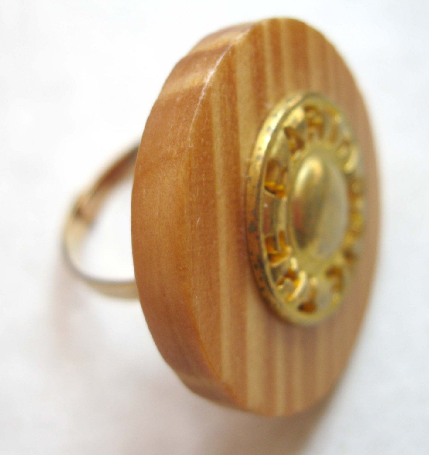 Eco ring adjustable Save The Earth ooak