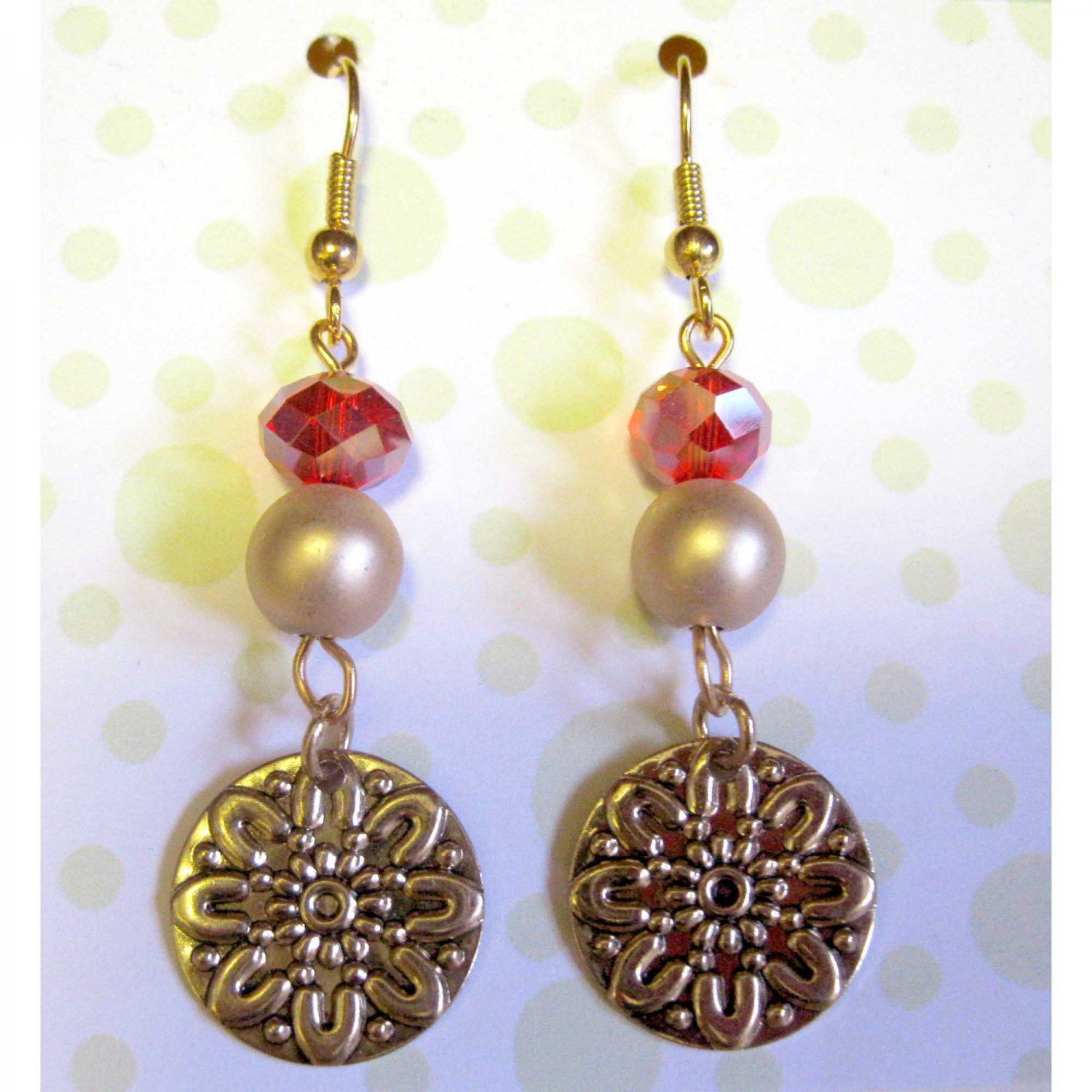 Red and gold earrings fashion drop jewelry 1439e for Drop shipping jewelry business