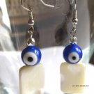 Good luck blue evil eye earrings mother of pearl fashion jewelry nazar