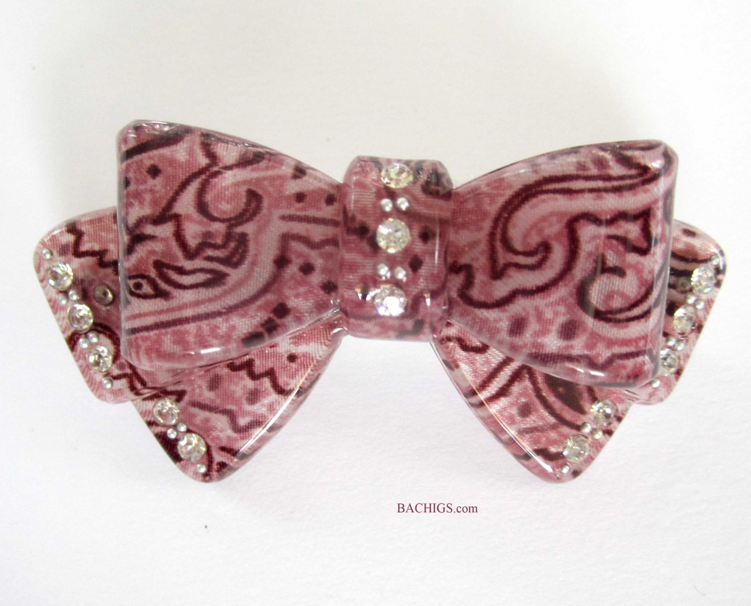 Pink hairclip with crystals