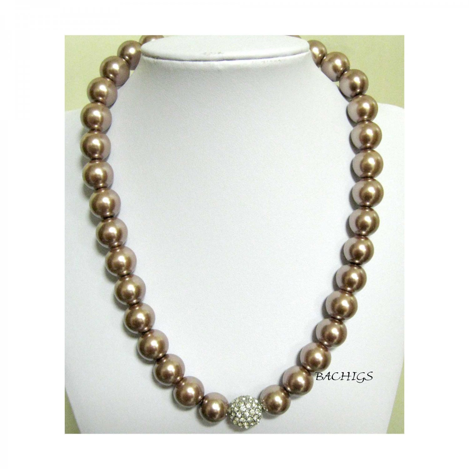 Blush pearl fashion necklace fancy holiday parties
