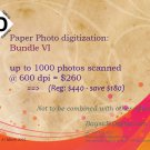 Photo scanning up to 1000 photos scanned digitized at 600 dpi SPECIAL SALE