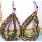 Beaded drop earrings brown fashion jewelry