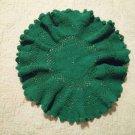 Green crochet doily handmade