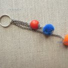 POMPOM KEYCHAIN TRICOLOR ONE OF A KIND