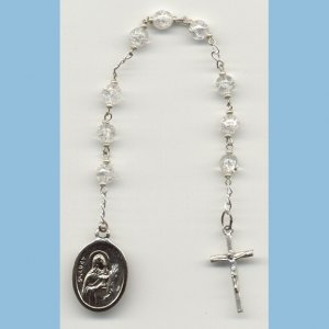 St. Lucy Chaplet Crackle Beads SE