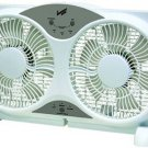 "Comfort Zone 9"" Reversible 3-Speed Twin Window Fan w/ Remote Control CZ310R"