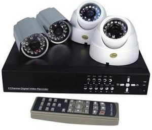 4 Channel Wired DVR Surveillance System - Networkable