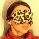 --ANIMAL VELVET SOFT PADDED   LEOPARD   SLEEP MASK TRAVEL--