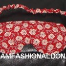 --quality red  travel eye/sleep mask  with white flowers--