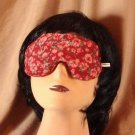 --Soft Padded Eye Sleep Mask Migraine Relief Red Flowers--