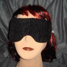 --NEW SOFT PADDED BLACK DESIGN ON MASK  Eye Sleep Mask Blindfold Sleeping Travel--