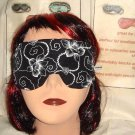 --SLEEP MASK, BLINDFOLDS, TRAVEL MASK, RELAXING White flower (amfashion)--