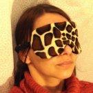 --ANIMAL VELVET SOFT PADDED   GIRAFFE   SLEEP MASK TRAVEL--