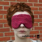 --LACE COVERED SOFT PADDED EYE / SLEEP MASK blindfolds travel relax meditation--