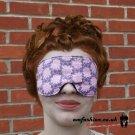 --LIGHT PINK ROSES SOFT PADDED EYE / SLEEP MASK blindfolds travelrelax meditation--