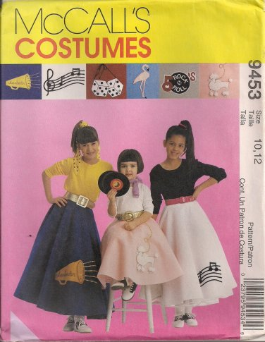McCall's Costume Pattern 9453 - Children's and Girls' Poodle Skirt & Petticoat (3-4, 5-6, 10-12, 14)