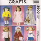 "McCall's Crafts Sewing Pattern 3900 - 18"" Doll Clothes"