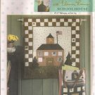 "Simplicity Crafts Sewing Pattern 4932 - ""Quilt In A Day"" Schoolhouse Wallhanging & Book Bag"