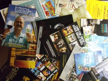 Various ads and inserts from dvds as pictured photos john cleese the last unicorn