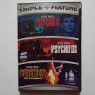 Psycho II 1983 Psycho III 1986 Psycho IV 1990 NEW DVD