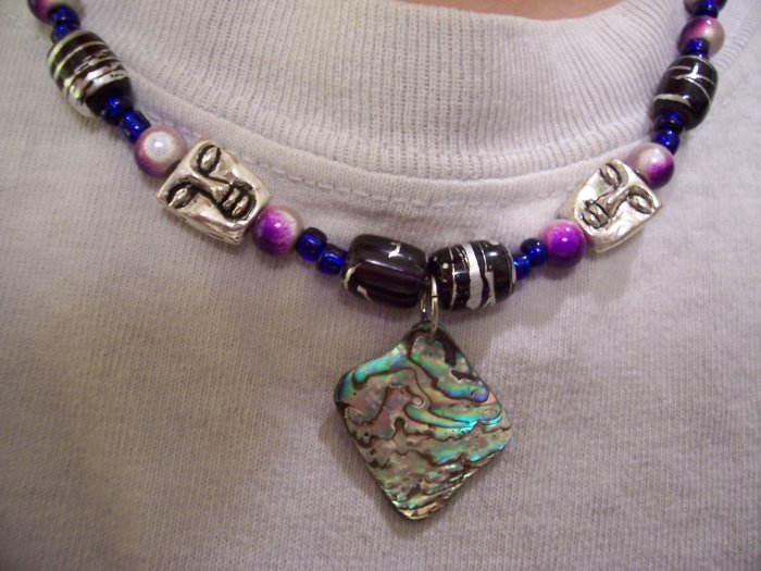 Oceanic Totem Sunset Necklace