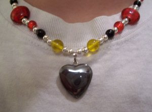 Heart In Flames Necklace