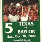 2000 Texas v Baylor Full Ticket Major Applewhite
