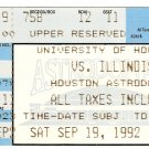 1992 Houston v Illinois Ticket Stub