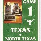 2002 Texas v North Texas Ticket Stub