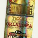 2010 Texas v  Oklahoma Ticket Stub