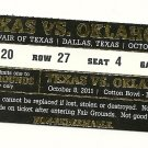 2011 Texas v  Oklahoma Ticket Stub