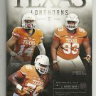 2016 Texas Football Lot of 6 Programs - Complete Home Schedule