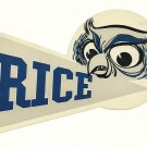 1958 Rice Owls Humble Oil Decal/Schedule
