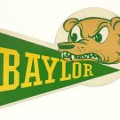1958 Baylor Bears Humble Oil Decal/Schedule
